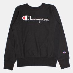 Champion Script Applique Crewneck Sweatshirt - Black Source by calderonkm outfit Champion Clothing, Sweatshirt Makeover, Sweatshirt Outfit, Dresses With Leggings, Hoodies, Sweatshirts, Adidas, Cute Outfits, Clothes