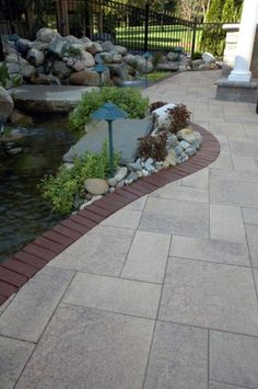 Paver Walkway With Unilock Umbriano And Copthorne