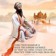 Guru Tegh Bahadur - The Protector. #guruteghbahadur #guruteghbahadurji #guruteghbahadur #guru #sikhart #sikh #india #freedom #one #art #artofpunjab #kanwarsingh #sikhlivesmatter #waheguru #sikhi #sikhism