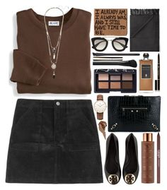"""""""You come from my world"""" by ladyvalkyrie ❤ liked on Polyvore featuring Blair, NARS Cosmetics, Serge Lutens, Balenciaga, Anastasia Beverly Hills, Clarins, Tory Burch, Acne Studios, Prada and Daniel Wellington"""