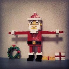 lego Santa etc. Lego Christmas Ornaments, Christmas Crafts, Xmas, Christmas Ideas, Merry And Bright, Legos, Design Inspiration, Holiday Decor, Shelf