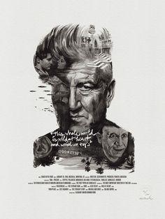 Movie Director Portrait Print, David Lynch