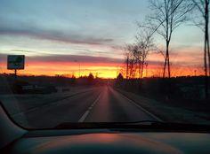 Going work, winter morning