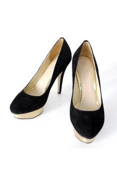 Suede Metallic Platform Formal #Shoe Style Code:06170 $75