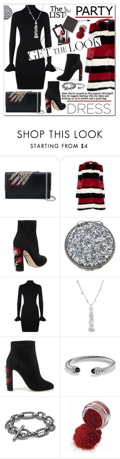"""""""Party On * Long Sleeve Dresses"""" by calamity-jane-always ❤ liked on Polyvore featuring Alexander McQueen, Alice + Olivia, Dolce&Gabbana, Kate Spade, MICHAEL Michael Kors, Phillip Gavriel, David Yurman, Laura Mercier, longsleeve and fashionset"""