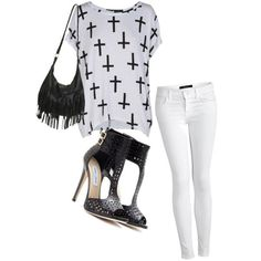 A fashion look from April 2013 featuring oversized t shirt, skinny jeans and heeled sandals. Browse and shop related looks. Unisex Fashion, Cute Fashion, Fashion Looks, Fashion Outfits, Womens Fashion, Beautiful Outfits, Cute Outfits, Chic Summer Style, Spring Fashion Trends