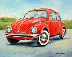 vw artwork | Vw Beetle Painting by Luke Karcz - Vw Beetle Fine Art Prints and ...