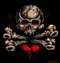 Stitched Skull by artist Cormack. Features a stitched skull, crossbones and a broken heart tattoo art design. Giclee fine art reproductions on canvas. They are printed on museum-grade poly-cotton canvas with a bright white point and high gloss. Crane, Skull Wall Art, Skull Head, Rolled Paper Art, Heart Canvas, Thing 1, Skull Tattoos, Skull And Bones, Canvas Art Prints