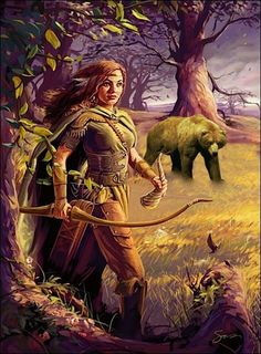 "Mielikki- Finnish myth: goddess of the forest. ""She is the wife to the forest god, Tapio. She protects cattle and blesses the hunting of small game. She heals animals who were stuck in traps, and helps chicks who have fallen from their nests. Thor, Loki, Vikings, Forest Creatures, Mythical Creatures, Cyberpunk, Symbole Viking, Elfa, Forgotten Realms"