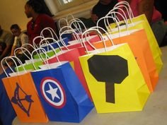 Avengers party bags #avengers