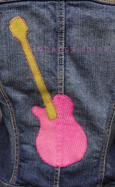 rockin' guitar applique