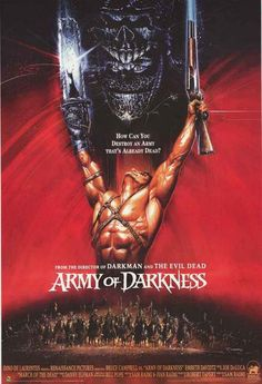 An awesome movie poster from Sam Raimi's classic comedy-horror film Army of Darkness! Need Poster Mounts. Best Movie Posters, Classic Movie Posters, Movie Poster Art, Cool Posters, Poster Poster, Horror Movie Posters, Horror Movies, Cult Movies, Scary Movies