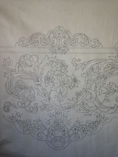 Crochet Stitches, Embroidery Stitches, Embroidery Patterns, Sketch Design, Fashion Sewing, Textures Patterns, Floral Design, Tapestry, Ornaments