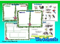 THE RAINFOREST- 2 Word Mats for story writing activities ...