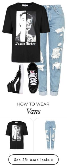 """I'll be your life line tonight"" by anjaleea-fizzy on Polyvore featuring Topshop, Justin Bieber, Vans, JustinBieber and 2017"