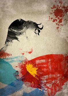 Paint Splattered Superheroes by Arian Noveir #art #superheroes