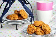 bananove cookies z kokosovej muky Good Food, Yummy Food, Tandoori Chicken, Cauliflower, Stevia, Sweet Tooth, Sweet Treats, Deserts, Gluten Free