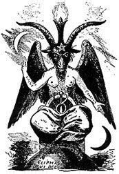 "The Baphomet evolved over the centuries. The most widely known representation of the Baphomet is the drawing by 19th century French magician Eliphas Levi called ""the Baphomet of Mendes."" Levi combined the images of the Tarot Devil card and the he-goat worshipped in the city of Mendes in Ancient Egypt."