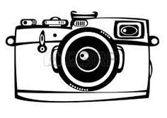 Vintage Film Photo Camera Isolated On White Background Stock
