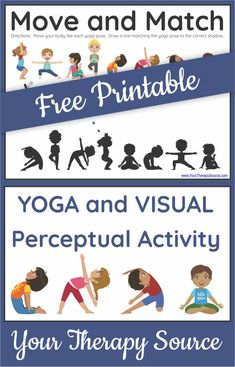 Are your students up for a physical and visual challenge?  If yes, this printable yoga worksheet for kids is perfect and it is FREE!