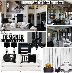 """""""Black And White Interior House With Classic Mix"""" by icedoll ❤ liked on Polyvore"""