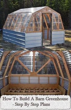 , How to Build a Barn Greenhouse - Step by Step Plans (direct link) More. , How to Build a Barn Greenhouse - Step by Step Plans (direct link) Diy Greenhouse Plans, Greenhouse Gardening, Buy Greenhouse, Greenhouse Panels, Greenhouse Wedding, Gardening Books, Greenhouse Shelves, Cold Frame Gardening, Homemade Greenhouse