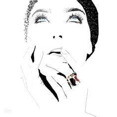 Fashion illustration by Gosia Grochala, via Behance