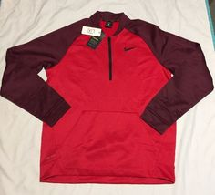 beac1c7a7 Nike Therma Dri-fit Mens Pullover Jacket Red Size Large 800185-657 for sale  online | eBay