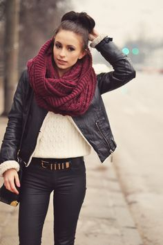 See More Claret Red Scarf