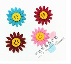 4 flowers/bag Cheapest! Free Shipping Quality Cloth Self Adhesive Wall Sticker for Classroom Child room Home Decoration-in Wall Stickers from Home & Garden on Aliexpress.com | Alibaba Group