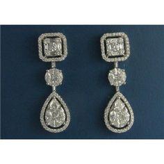white gold Diamond Earrings s - Diamond Stud Earrings in Boca Raton White Gold Diamond Earrings, Diamond Studs, White Gold Diamonds, Diamond Jewelry, Nice Jewelry, Gems Jewelry, Jewellery Box, Jewelry Accessories, Pear Shaped Diamond