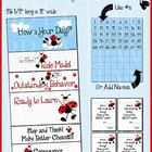 """This cute $2.50 Ladybug behavior chart will not only brighten your classroom, it will help improve your students' behavior. The chart comes in three 11"""" x 8.5"""" sections that you will print and then tape together. The finished chart is 25 1/2"""" long and 11"""" wide. Laminate it for years of use."""