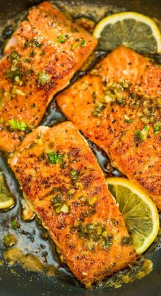 Cajun Salmon recipe is an ultra-easy and flavorful dinner to make during your busy weeknights. It's ready in less than 30 minutes. Salmon Recipe Videos, Salmon Recipe Pan, Delicious Salmon Recipes, Baked Salmon Recipes, Cajun Recipes, Fish Recipes, Seafood Recipes, Cooking Recipes, Healthy Recipes
