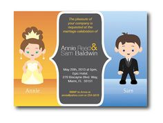 Funny Wedding Invitation  Personalized with a bride and by limen, $35.00