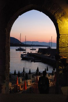 Cefalu, Sicily. I took a picture from this same spot; that was in the days before digital cameras.