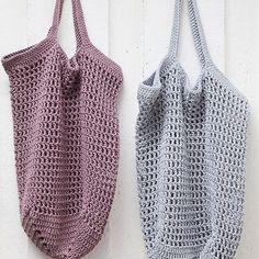 DIY: Sødt hæklet indkøbsnet | ISABELLAS Diy Crop Top, Crop Tops, Polka Dot Top, Knit Crochet, Crochet Bags, Crafty, Purses, Knitting, Women