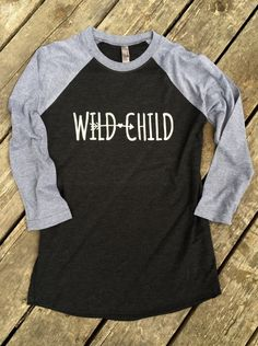 Wild Child Country Music Baseball Tee Gypsy Boho Cowgirl T-Shirt 3/4 Sleeve, Raglan Women's Country Lifestyle Apparel, Country Sayings Shirt by BackwoodsGypsyCo on Etsy