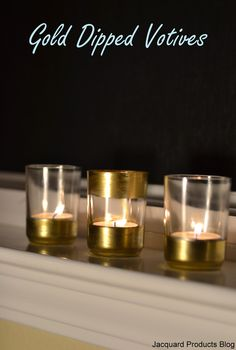 The Jacquard Products Blog: Gold Dipped Votive Holders And Day Two Of Our Giveaway!