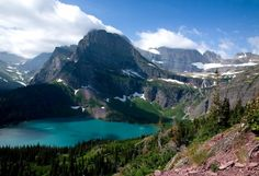 Glacier National Park--worked here one summer.  One of the most magical places I've ever been.
