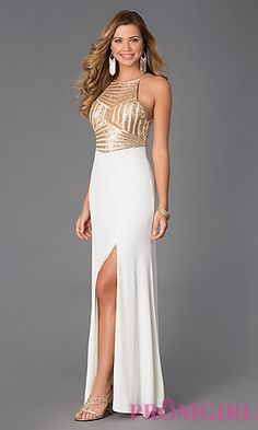Prom must-have? THIS sleeveless floor length dress with sequins! #Swoon