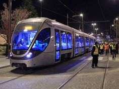 ISRAEL: A Citadis light rail vehicle made the first test run in Jerusalem on February along a newly-energised 3 km section of track between the. Tel Aviv, Japan Train, Old Steam Train, Transportation Industry, High Speed Rail, S Bahn, Old Trains, Israel Travel, Trains