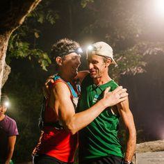 """ULTRA HISTORY Scott Jurek congratulated Karl Meltzer with his Appalachian Trail Speed Record, on September 18, 2016. """"SpeedGoat"""" Meltzer covered the 2,190 mile trail in 45 days, 22 hours and 38 minutes, beating the previous record set in 2015 by Scott Jurek. He did 2 previous speed record attempts on the AT in 2008 and 2014. """"This record is not about speed. It's about being able to deal with adversity, which, I think, is why I'm good for this. And why I'm good at 100s."""" he said."""