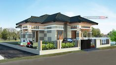 Desain Rumah Bapak Joko di Lahan 10 x 20 Meter - Jasa Desain Rumah Joko, House Elevation, Home Fashion, My Dream Home, Exterior Design, Facade, House Plans, New Homes, Floor Plans