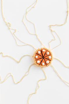 DIY Pumpkin Pie Friendship Necklaces | studiodiy.com