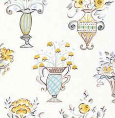 Dena designs london cotton fabric brighton love birds for Dena designs tea garden fabric