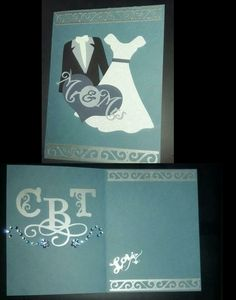 Card made for sister with Cricut tie the knot