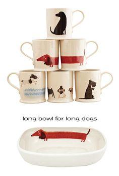 Super cute puppy dishes!