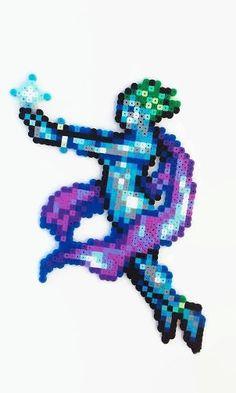 Final Fantasy 6 Perler Bead art Shiva - video game perler - final fantasy art - video game decor - snes - super nintendo - retrogamer gift