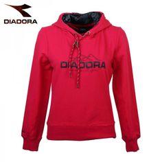 Diadora Women s hooded sweater red 31232e2251a
