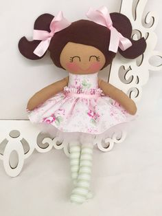 Cloth Baby Doll Girl Gift Pink fabric doll by SewManyPretties